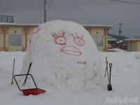 雪像の準備