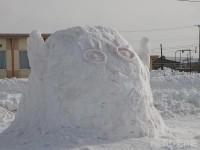 エリザベスの雪像