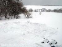 駐車場を除雪