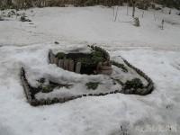 4月6日雪から出てきた花壇