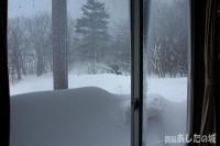 トラクターの除雪車登場