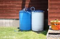 水をためるドラム缶