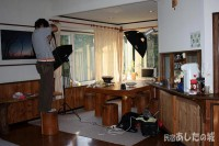 料理を撮影