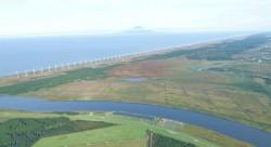 天塩川と風力発電