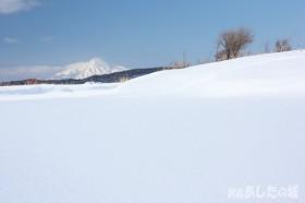 サロベツ川と利尻富士