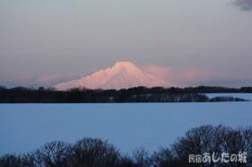 日の出のころの利尻富士