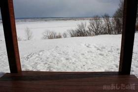 雪がかなり溶ける