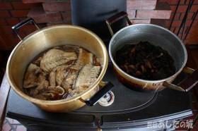 昆布の佃煮と魚のあら煮