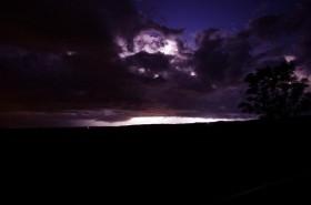 サロベツ原野の雷