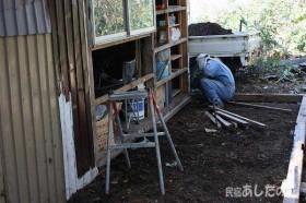 物置小屋増築