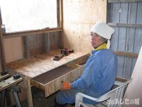手作りの机