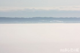 原野が霧に包まれる