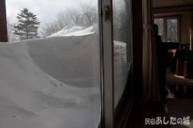 ベランダの雪