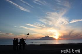 夕日の撮影