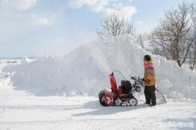 前の除雪機
