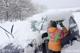 車の雪下ろし