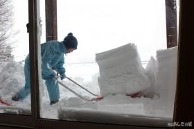 ベランダの除雪