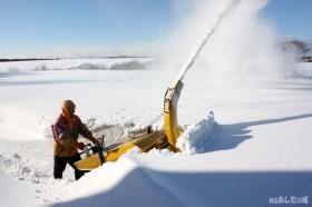 秘密基地まで除雪