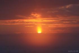 太陽が姿を見せる