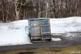 除雪機の小屋