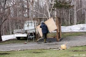 除雪機小屋解体