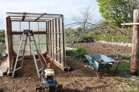 除雪機の小屋、再利用
