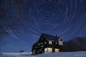月夜の北天グルグル