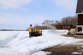 2メートルを超す雪がまだ