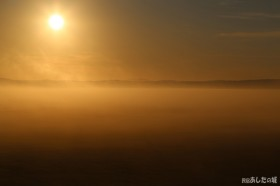 今朝も雲海がきれかった