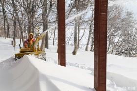 ベランダ周りの除雪
