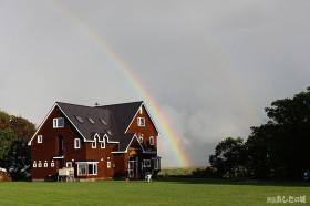 地平線からの虹