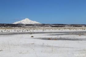 雪ゆるむサロベツ原野