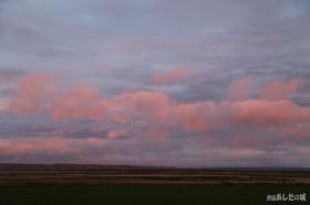夕暮れ時のサロベツ原野