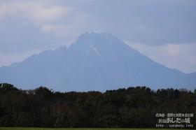 利尻山で初冠雪