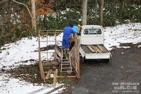 除雪機小屋を作る