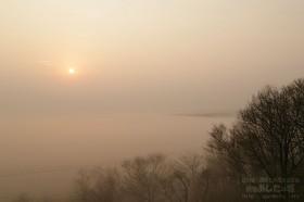 霧に覆われた原野