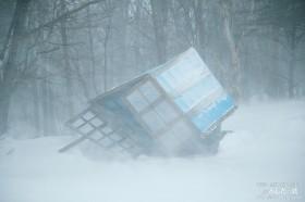 26日16時前の除雪機小屋