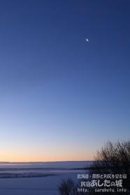 サロベツ原野の月