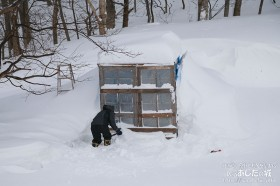 除雪機を出すための除雪