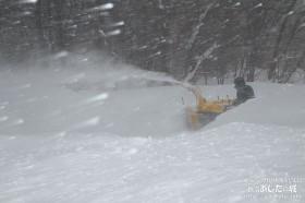 駐車場の除雪