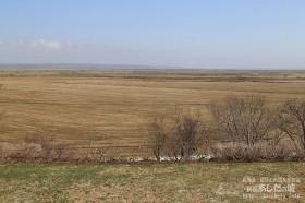 ベランダから見たサロベツ原野方面