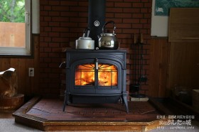 屑薪で暖房