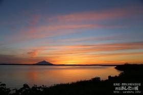 パンケ沼の夕焼け
