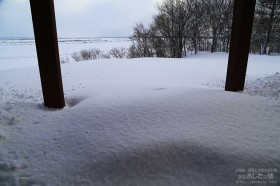 雪面の高さが上がる
