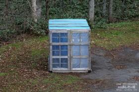 完成した除雪機小屋