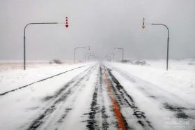 冬の道道444号線