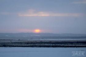 雲の隙間から太陽が