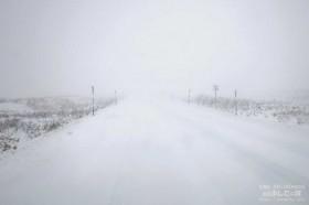 冬の道道106号線