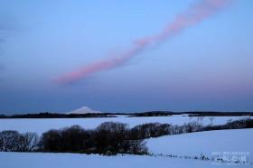 夜明け前の西の空