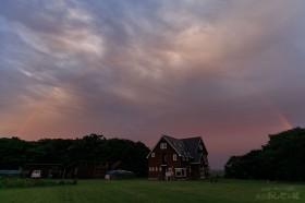 虹と民宿あしたの城